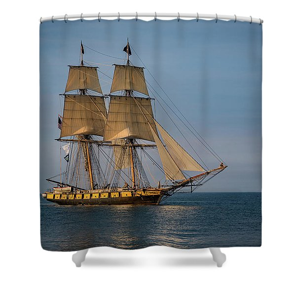 Tall Ship U.s. Brig Niagara Shower Curtain