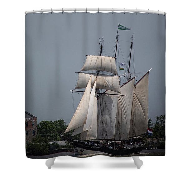 Tall Ships To Nola Shower Curtain