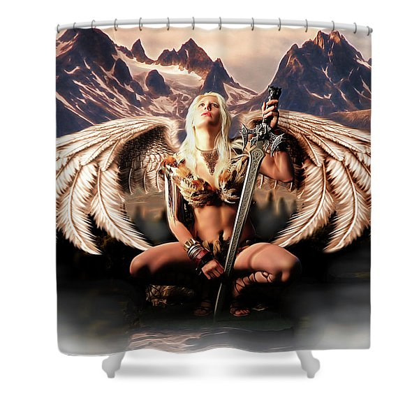 Talon Of The Hawk Woman Shower Curtain