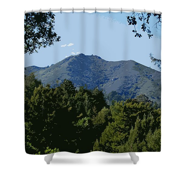 Tamalpais...the Sleeping Princess Shower Curtain