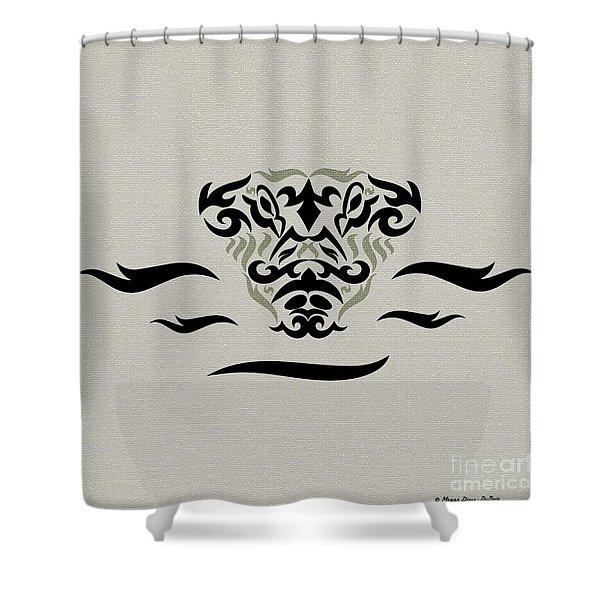 Tan Tribal Gator Shower Curtain