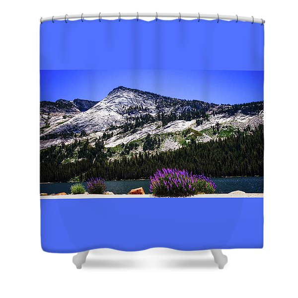 Tanaya Lake Wildflowers Yosemite Shower Curtain