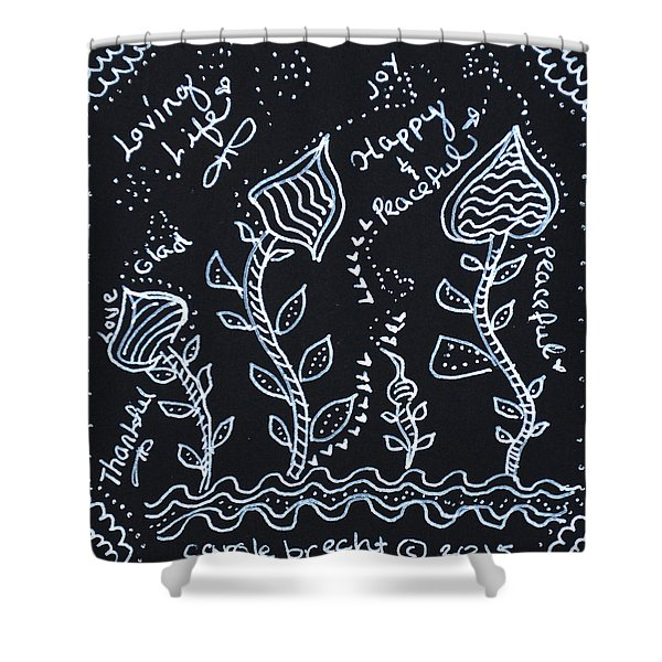 Tangle Flowers Shower Curtain