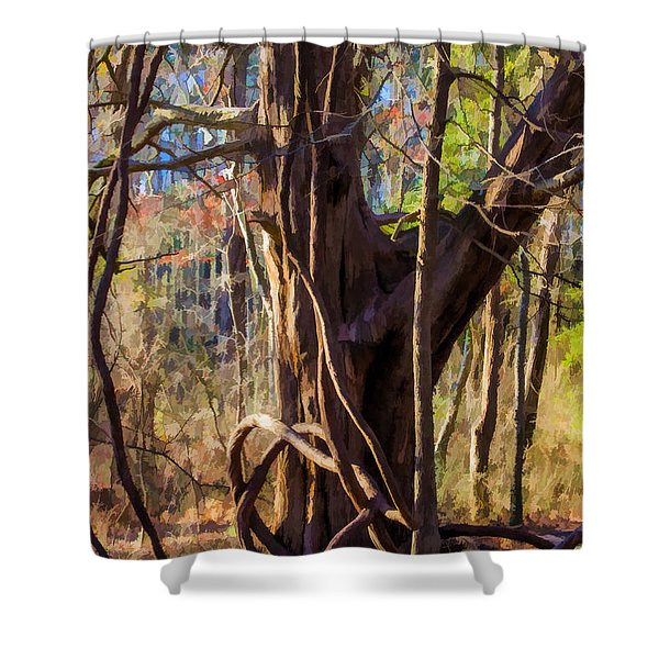 Tangled Vines On Tree Shower Curtain