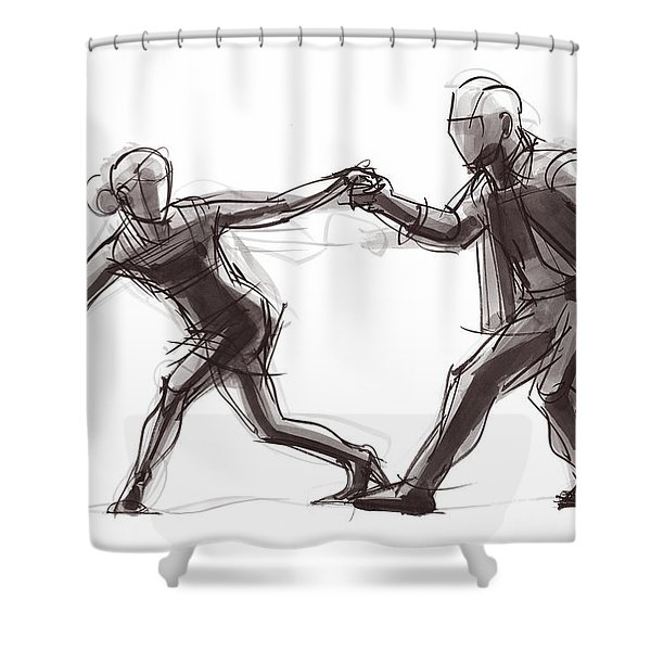 Tango #63 Shower Curtain