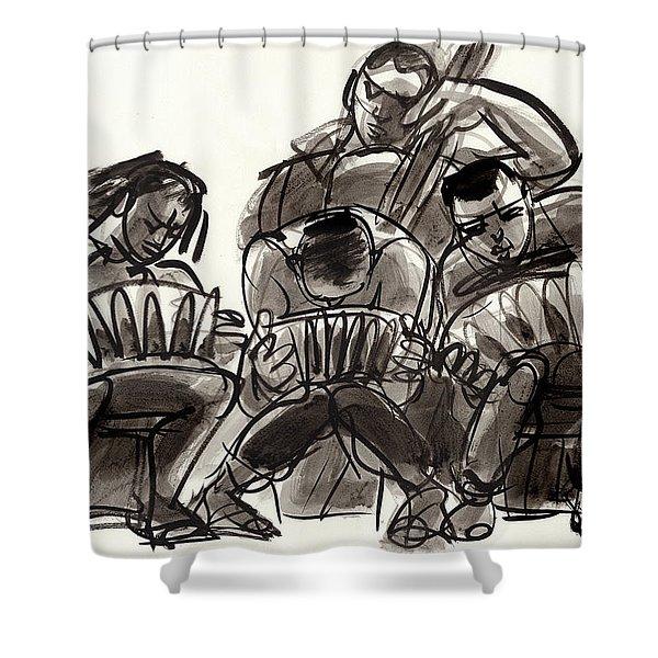 Tango Musicians Shower Curtain