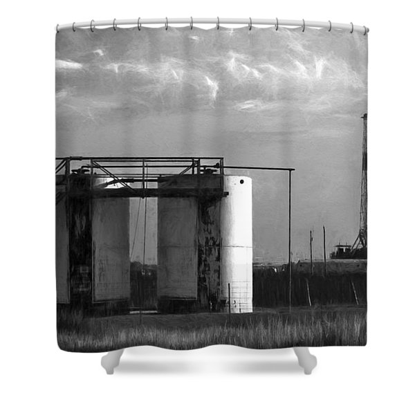 Tank Battery Shower Curtain