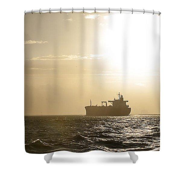 Tanker In Sun Shower Curtain