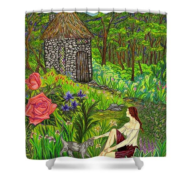 Tansel's Garden Shower Curtain