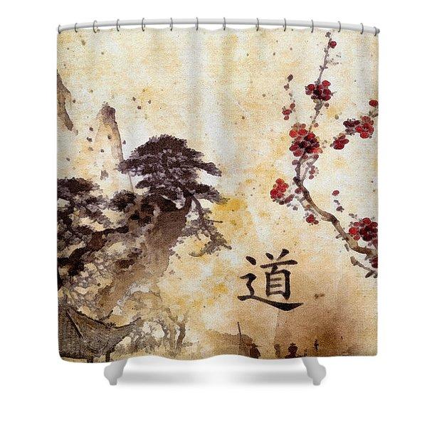 Tao Te Ching Shower Curtain