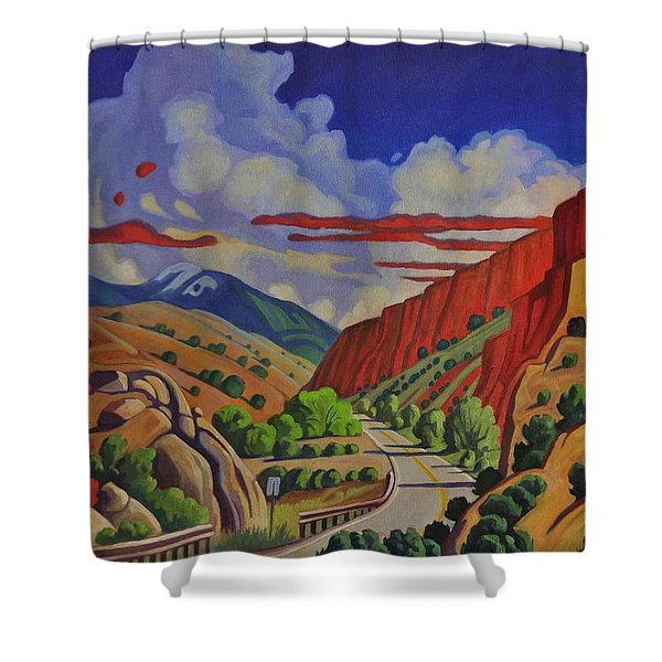 Taos Gorge Journey Shower Curtain