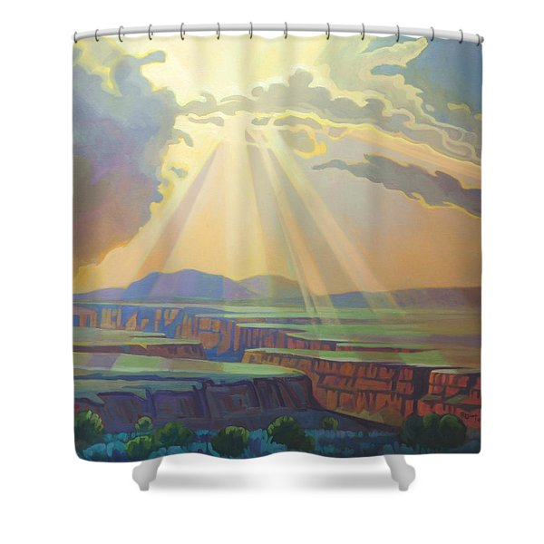 Taos Gorge God Rays Shower Curtain