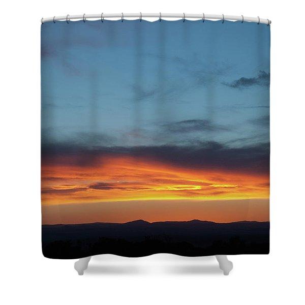 Taos Mesa Sunset Shower Curtain