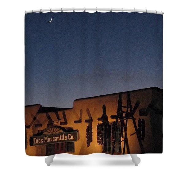 Taos Plaza Shower Curtain