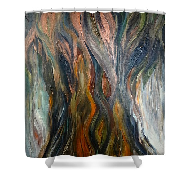 Taotaomo'na Tree Shower Curtain