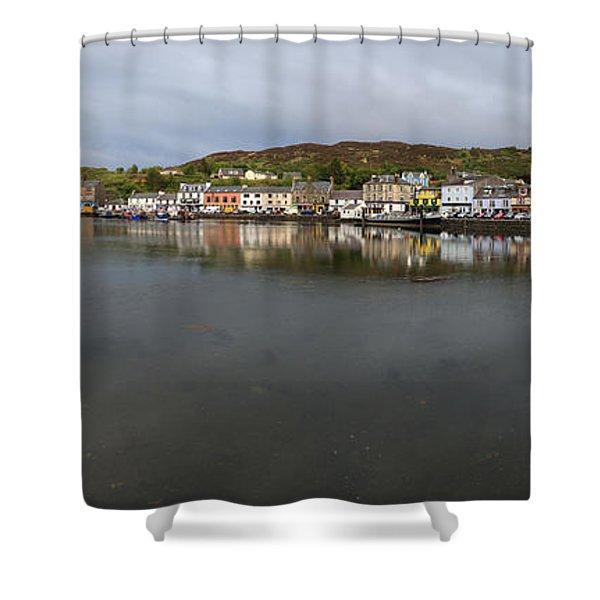 Tarbert Harbour - Panorama Shower Curtain