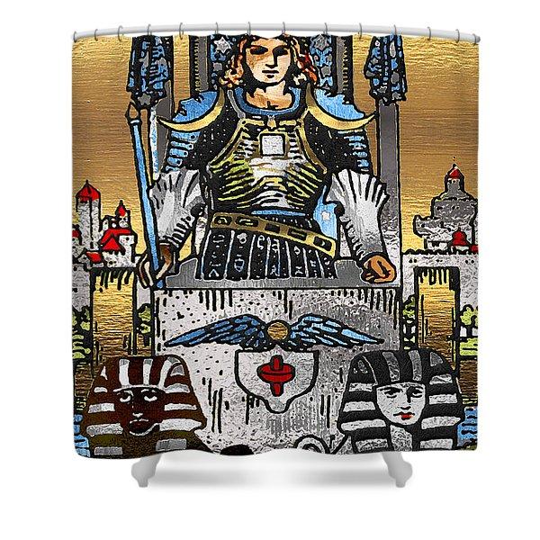 Tarot Gold Edition - Major Arcana - The Chariot Shower Curtain