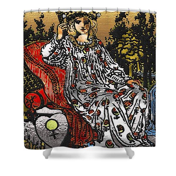 Tarot Gold Edition - Major Arcana - The Empress Shower Curtain