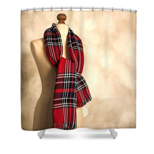 Tartan Scarf Shower Curtain