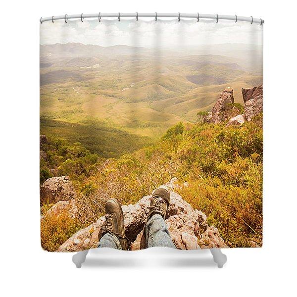 Tasmania Bushwalking Views Shower Curtain