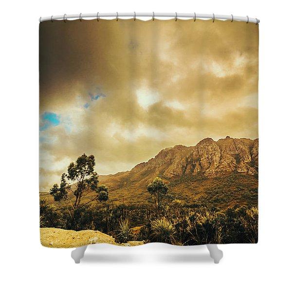 Tasmania Mountain Marvels Shower Curtain