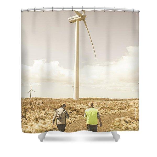 Tasmania Turbine Tours Shower Curtain