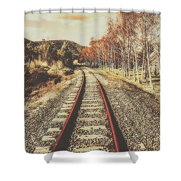 Tasmanian Country Tracks Shower Curtain