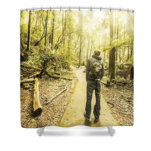 Tasmanian Rainforest Tourist Shower Curtain