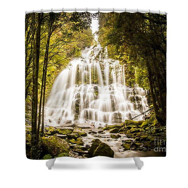 Tasmanian Waterfalls Shower Curtain