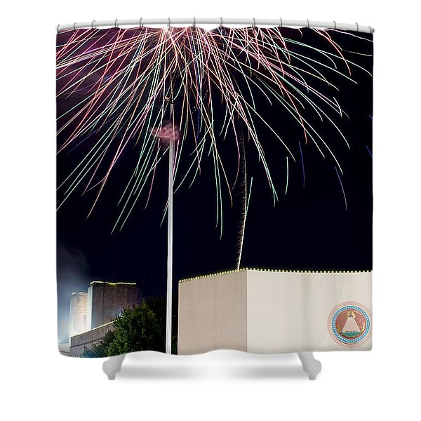 Taste Of Dallas 2015 Fireworks Shower Curtain