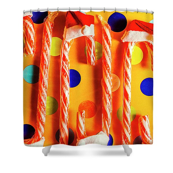 Tasty Candy Cane Sweets Shower Curtain