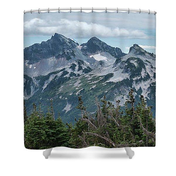 Tatoosh Panorama Shower Curtain