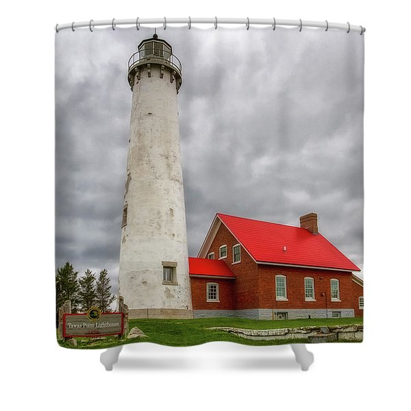 Shower Curtain featuring the photograph Tawas Point Lighthouse by Heather Kenward