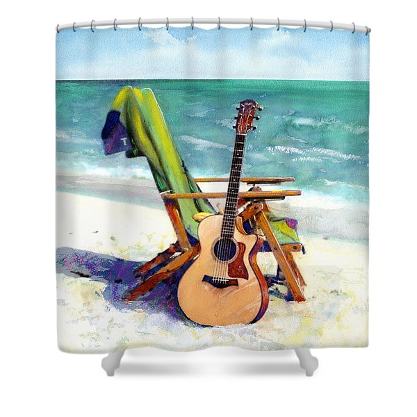 Taylor At The Beach Shower Curtain