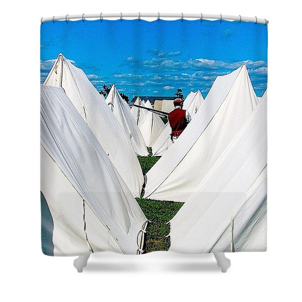 Field Of Tents Shower Curtain
