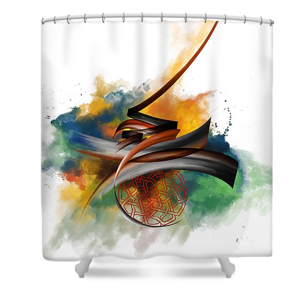 Tc Calligraphy 34 Shower Curtain