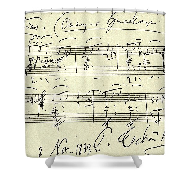 Tchaikovsky Autographed Score Shower Curtain