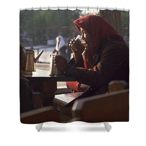 Tea In Tashkent Shower Curtain