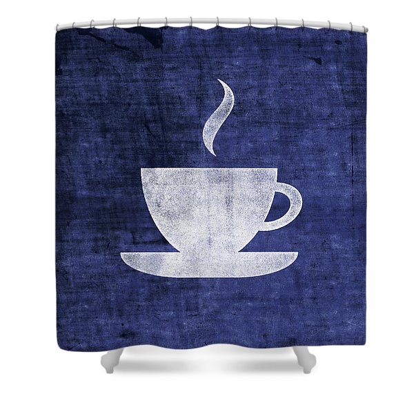 Tea Or Coffee Blue- Art By Linda Woods Shower Curtain
