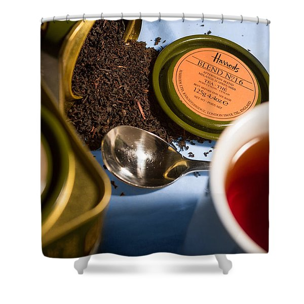 Shower Curtain featuring the photograph Tea Time by Break The Silhouette