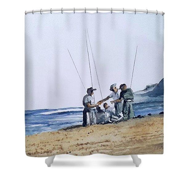 Teach Them To Fish Shower Curtain