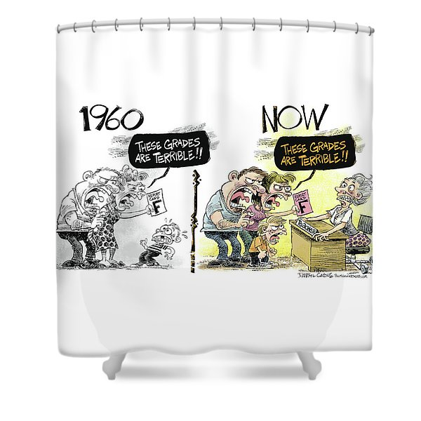 Teachers Then And Now Shower Curtain