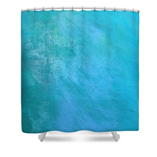Shower Curtain featuring the painting Teal by Antonio Romero