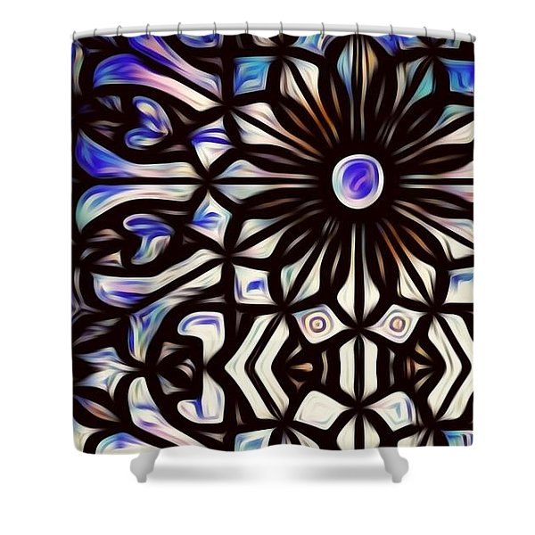 Teal Purple Vibe Shower Curtain