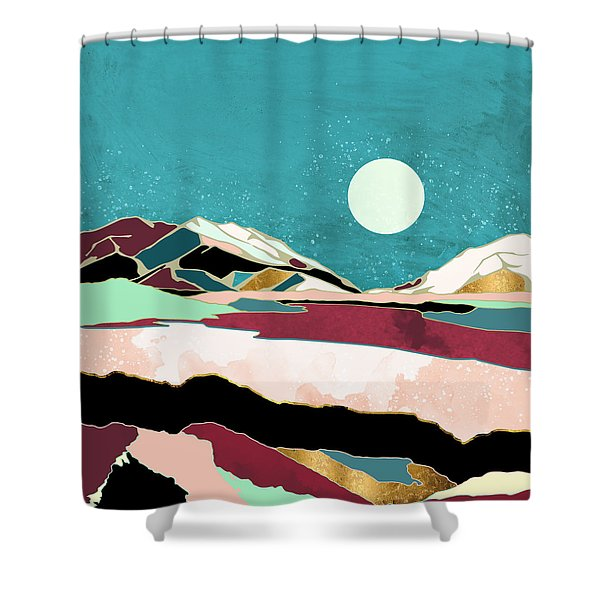 Teal Sky Shower Curtain