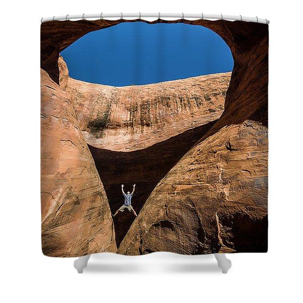 Teardrop Arch Shower Curtain