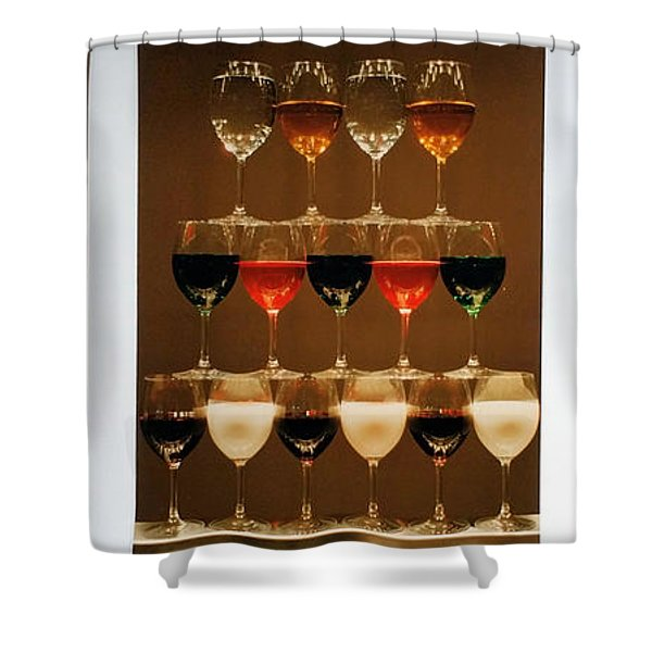 Tears And Wine Shower Curtain