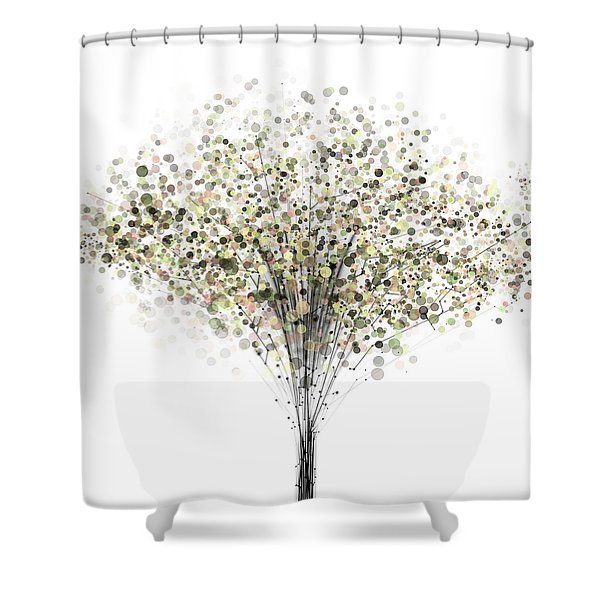 technology Abstract Shower Curtain
