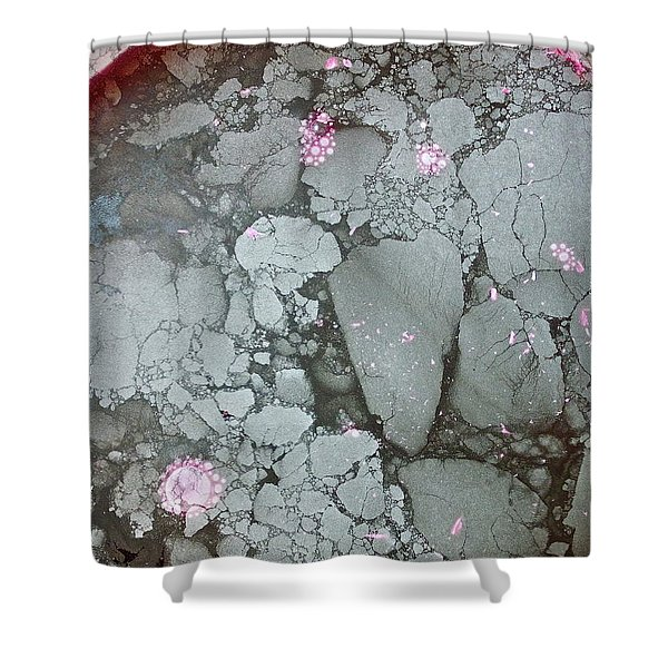 Shower Curtain featuring the photograph Tectonic With Sky Above And Below by Cliff Spohn