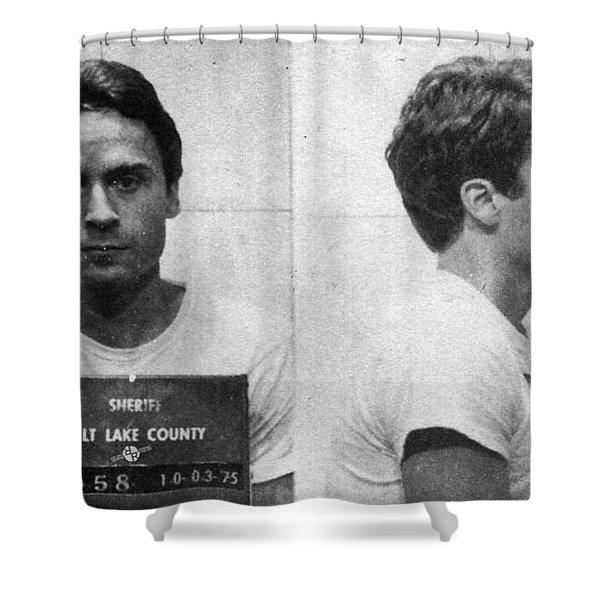 Ted Bundy Mug Shot 1975 Horizontal  Shower Curtain